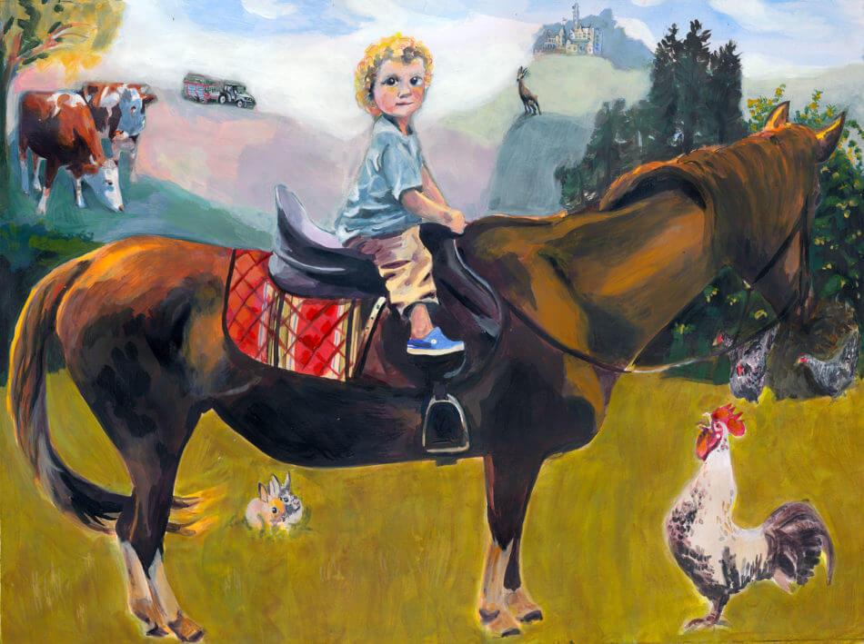 TINY NOBLEMAN ON LONG HORSE